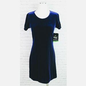 Vintage My Michelle Crushed Purple Velvet Dress